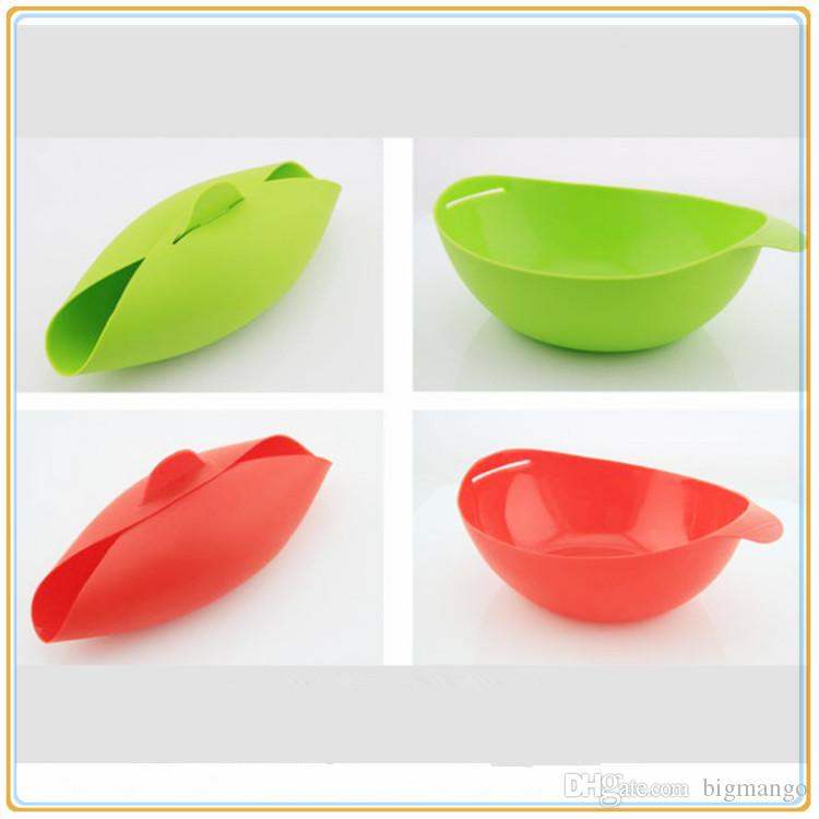 Silicone Pinch Bowls Dinnerware Multifunction Bowls candy color Baking tools Can put microwave ovens Silicone steamed fish bowl wholesale