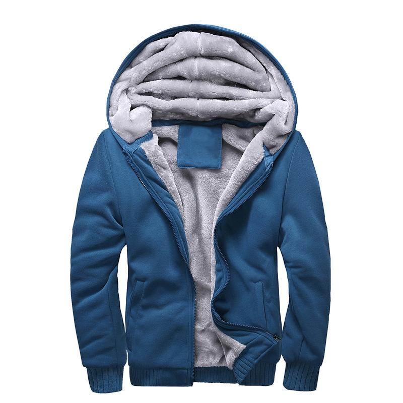 Men's Fashion Solid Thick Warm Sweater Male Casual Hooded Winter Wear Fur  Lining Sweater Men's Warm Sweater Male Casual Sweater Hooded Sweater Online  with ...