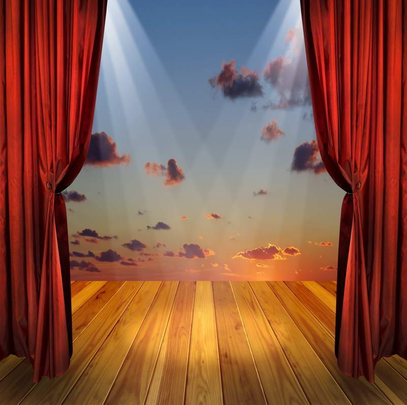 2018 5x7ft Vinyl Digital Red Curtains Stage Show Photography ...