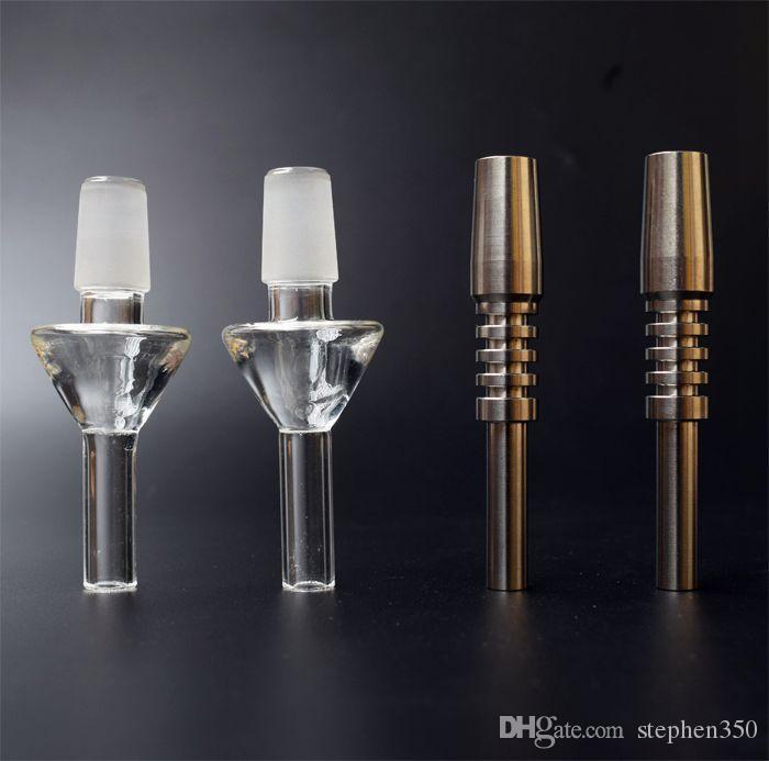 Dicas de quartzo ponta de titânio néctar coletor Domeless prego de quartzo de titânio 10/14 / 18mm prego invertido para palha de mel Dab Rigs