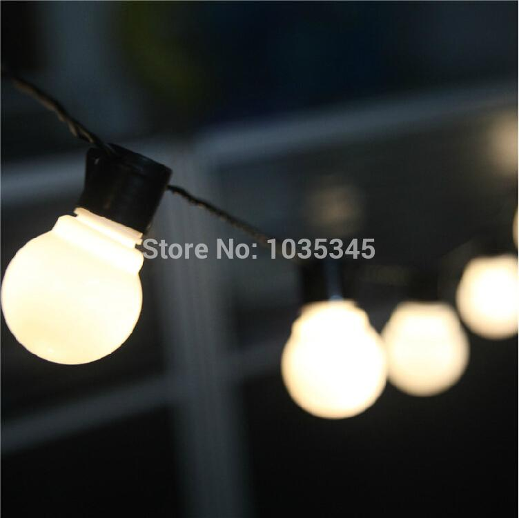 Novelty outdoor lighting 5cm big size led ball string lamps black novelty outdoor lighting 5cm big size led ball string lamps black wire christmas lights fairy wedding garden pendant garland big ornaments for outdoors big aloadofball Gallery