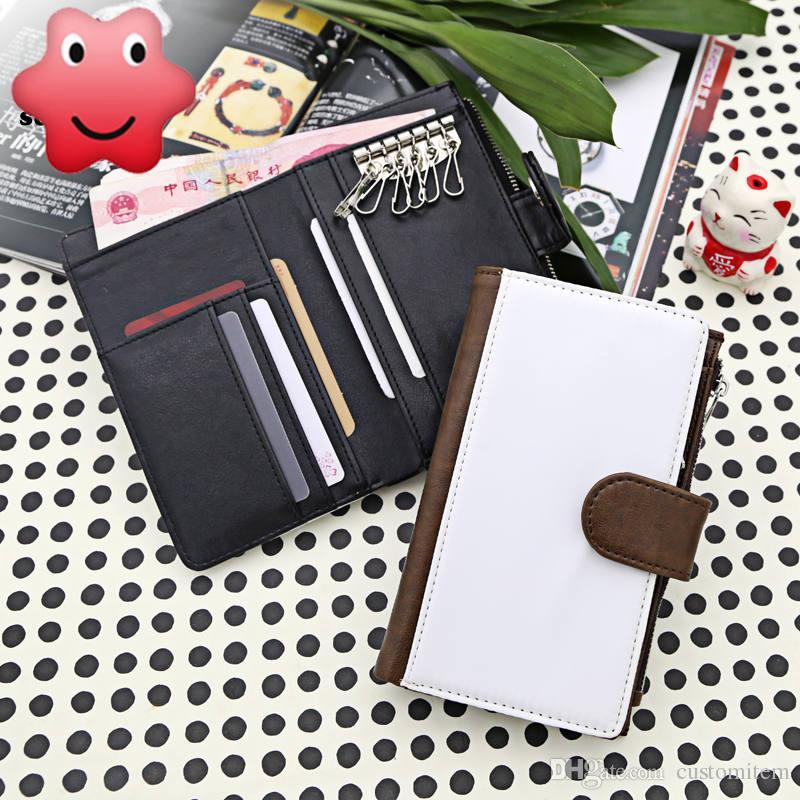 caso di portafoglio chiave in bianco sublimazione stampa a trasferimento termico pu grande portafoglio della borsa i consumabili uomo materiale all'ingrosso creativo fai da te