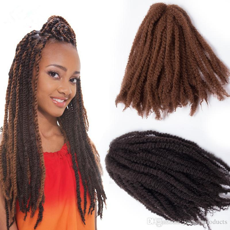 Afro Kinky Curly Twist Marley Braid Hair Extension Synthetic Kinky