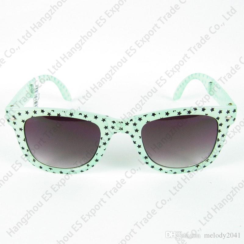 Rensa lager Travel Solglasögon Mode Sun Glasögon Plastram Folding Svart och Blå Blommigt Tryck Mix Färger