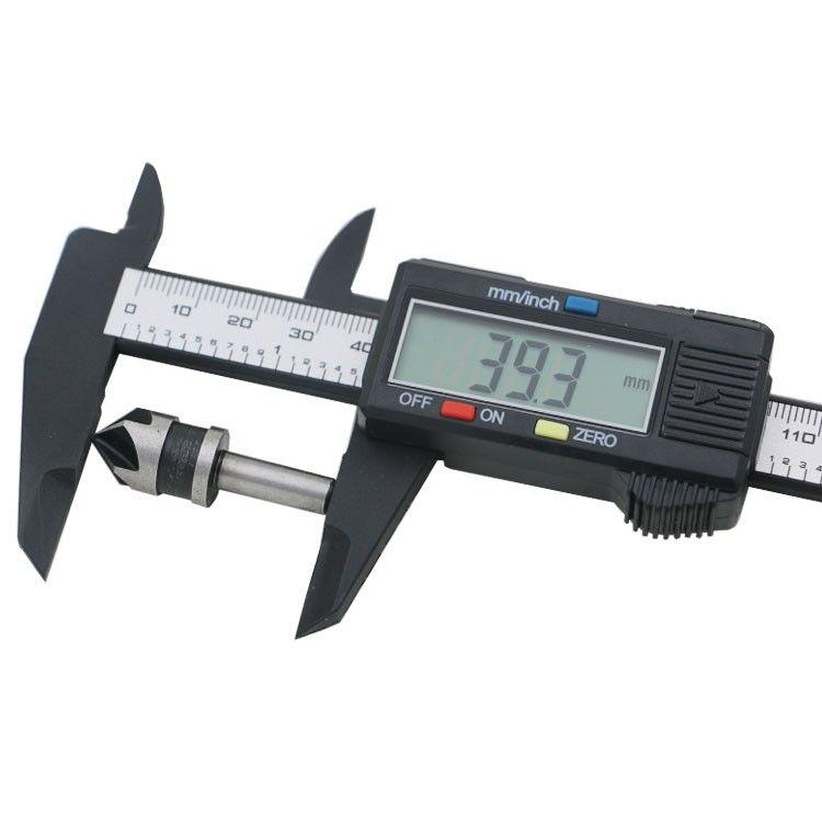 Calibro digitale 150mm 6 pollici LCD Digital Electronic Fibra di carbonio Vernier Caliper Gauge Micrometro Strumento di misura