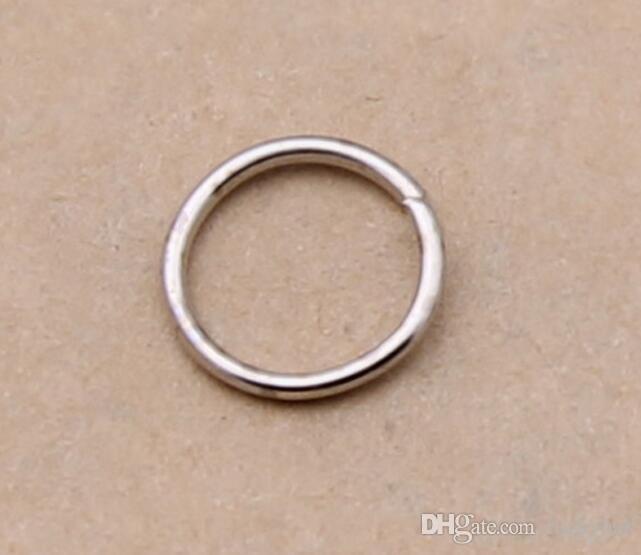 10dozen/dozen Gold silver bronze DIy handmade jewelry accessories Jewelry Findings Components open jump rings 5mm drop shipping