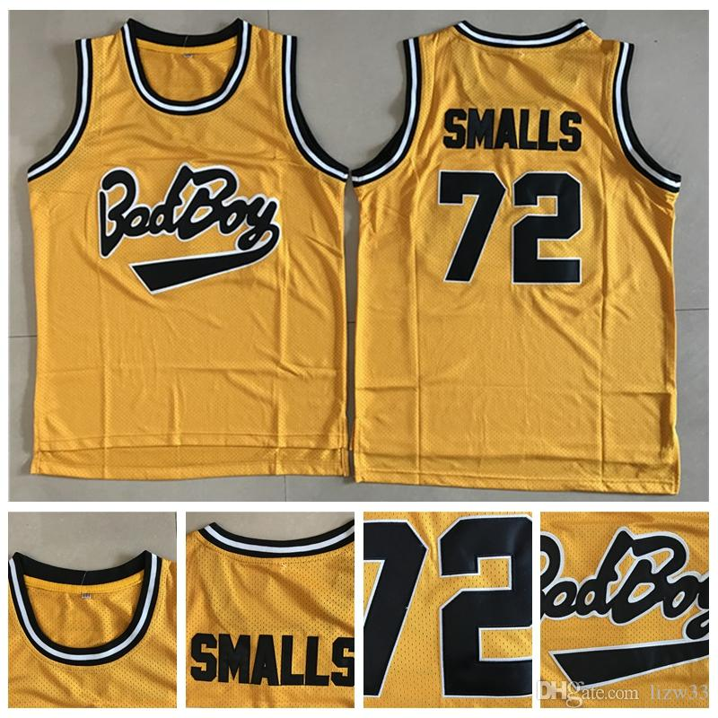 Movie Bad Boy Basketball Jerseys Notorious Big 72 Biggie Smalls Jersey Mens  Yellow Team Color Embroidery Jersey S XXL UK 2019 From Lizw33 b797a712a