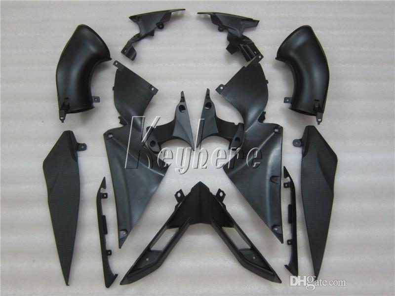 Kit de carenado moldeado por inyección de ABS completo para Yamaha YZF R1 07 08 Feriaturas de motocicleta negro verde Set YZFR1 2007 2008 Yi22