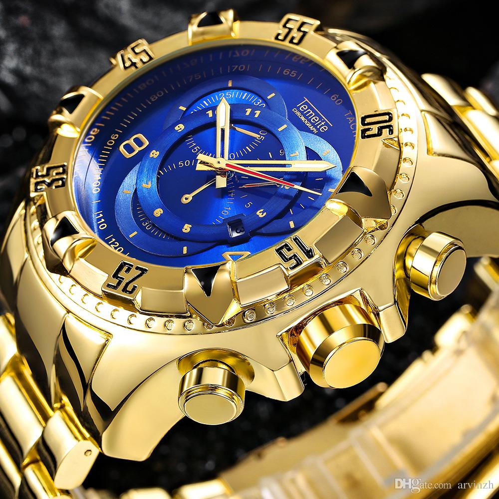 Dh Auto Sales >> New Personality Men Big Dial Stainless Steel Watches ...