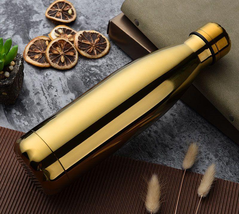 새로운 물 컵 절연 머그잔 500ML 진공 병 스포츠 304 스테인레스 스틸 콜라 볼링 모양 여행 머그잔 4 색 무료 DHL WX - C19