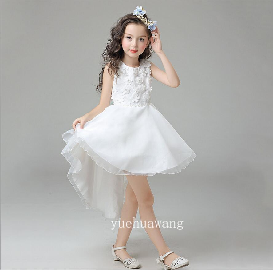 2018 2017 Summer Pink Puffy Girls Prom Dress Kids Tulle Pageant ...