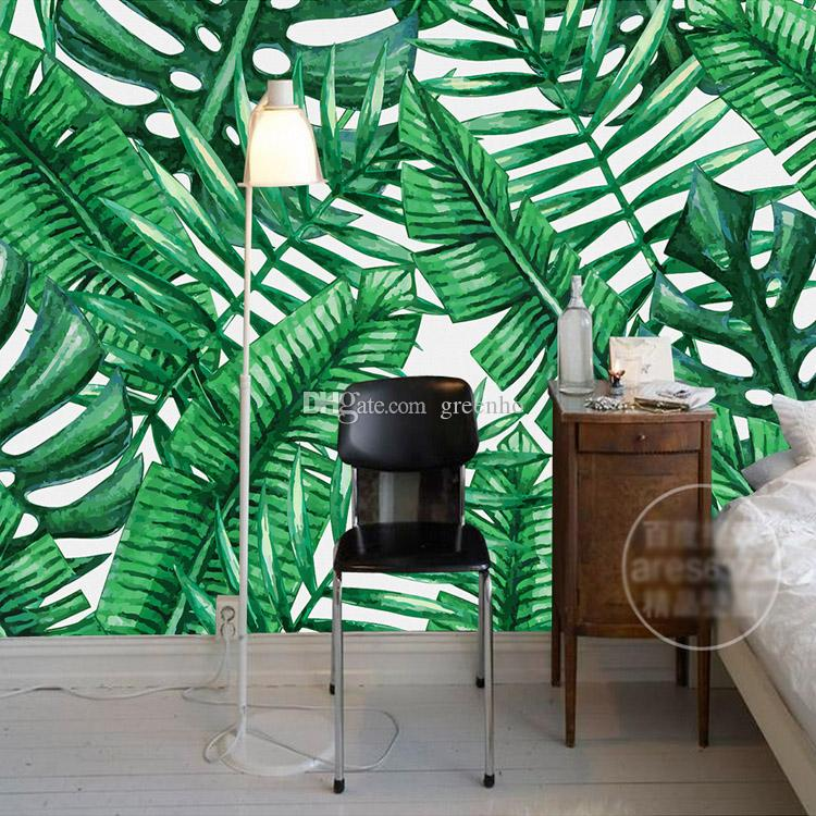 Southeast Asia Wallpaper Tropical Rainforest Wall Mural Banana Leaf 3d For Walls Bedroom Living Room Tv Background Art Decor Free Hd Images