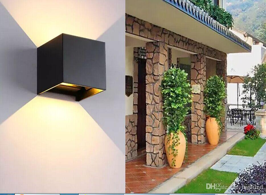 Outdoor Waterproof COB 12W Led Wall Lamps IP67 cube Adjustable Surface Mounted Garden Corridor Balcony Wall Sconce Lamps 220V