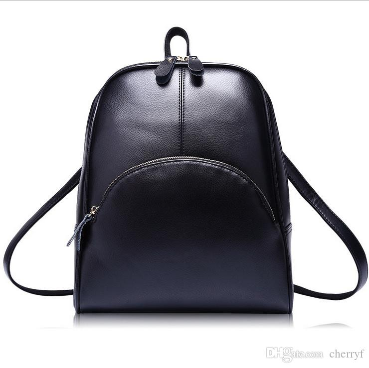625bd54d1c0 Synthetic Leather Backsacks Women Bags Fashion Double Shoulder Bag Factory  Price PU School Bags For Students Tool Backpack Best Laptop Backpack From  Cherryf ...