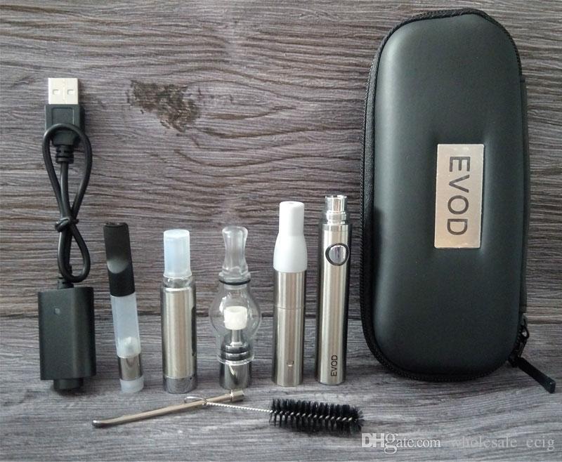 EVOD 4 in 1 Starter Kit vaporizzatori Wax Glass Globe Atomizer EVOD MT3 Tank E Liquid Ce3 Cartuccia Dry Herb Vape Penne Kit
