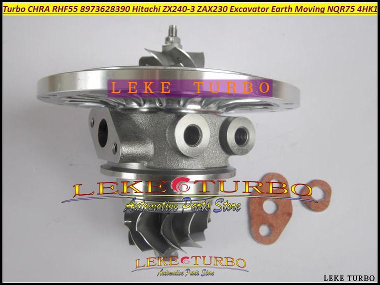 RHF55 8973628390 turbo Cartridge CHRA for Hitachi ZX240-3 ZAX240-3 ZAX230 Excavator ISUZU Earth Moving NQR75 4HK1 Turbocharger (1)