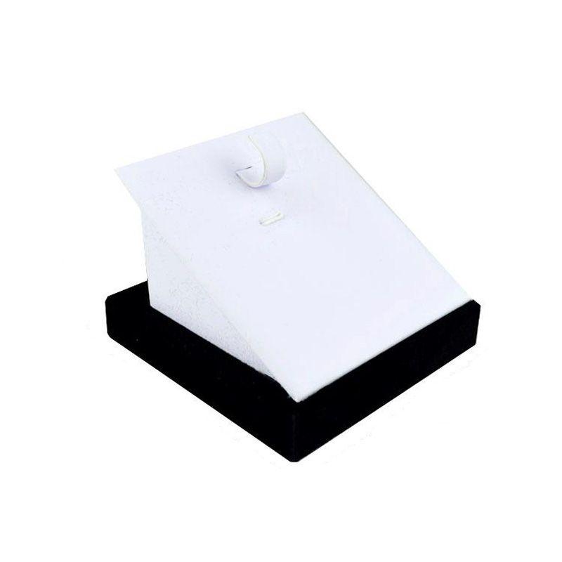 8.7 * 8.7 * 7CM عرض مجوهرات سوار حامل الإسورة حامل الأبيض بو الجلود عرض مجوهرات الحالات