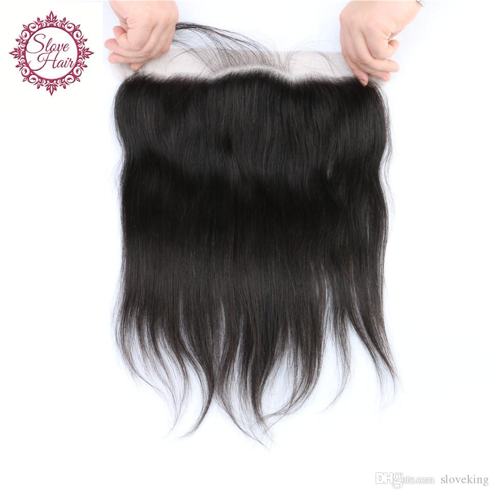 8A Peruvian Silk Base Frontal 13x4 Silk Straight Silk Base Lace Frontal Closure With Baby Hair Ear to Ear Lace Frontal Closure