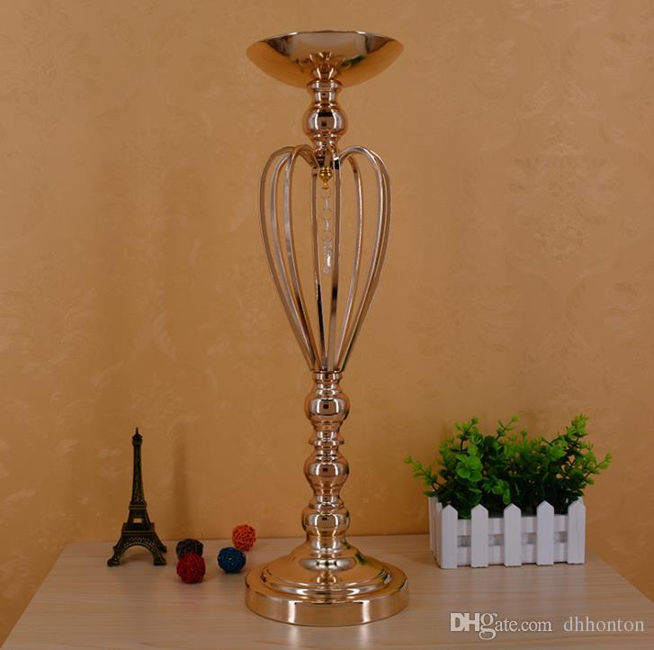 Gold-plated iron crown vase, wedding props, the main table decoration products fast delivery WQ16