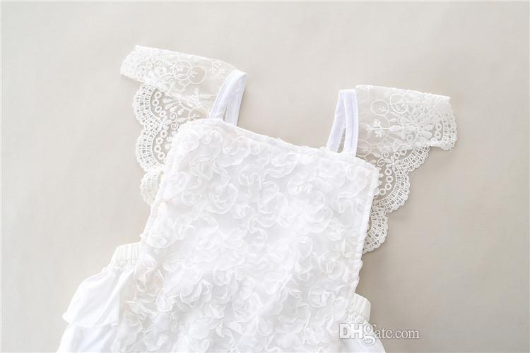 Baby Girls Lace Rompers Kids Girls Floral Embroidery Jumpsuit 2017 Infant Toddler Ruffle One-piece Princess Romper Children Clothing B211