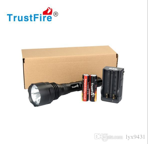 Hunting Equipment LED Flashlight 18650 Rechargeable Battery Waterproof Shockproof Portable LED Flash Light Super Bright High Power Torch Hot