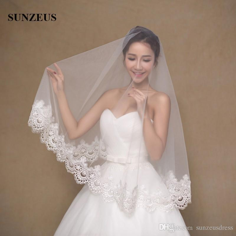 15 M Long Wedding Veil No Comb Ivory Tulle Bridal Veils With Lace Edge Velo De Novia Boda Make Your Own From Sunzeusdress