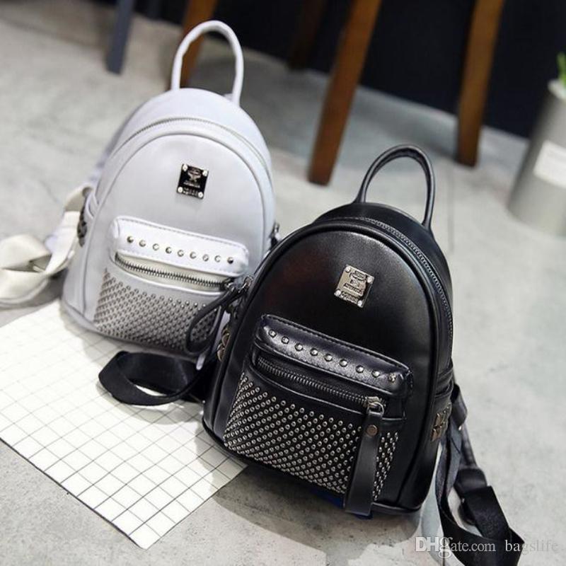 76b9700483b Rivets Backpack Women Small Backpacks For Teenage Girls Bagpack Women s  Casual Daypacks Female Backpack