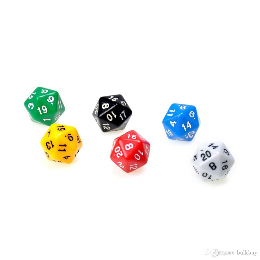 D20 Würfel zwanzig seitig sterben RPG DD sechs undurchsichtigen Farben Multi Harz polyedrisch für Seiten Würfel Pop für Game Gaming Großhandel