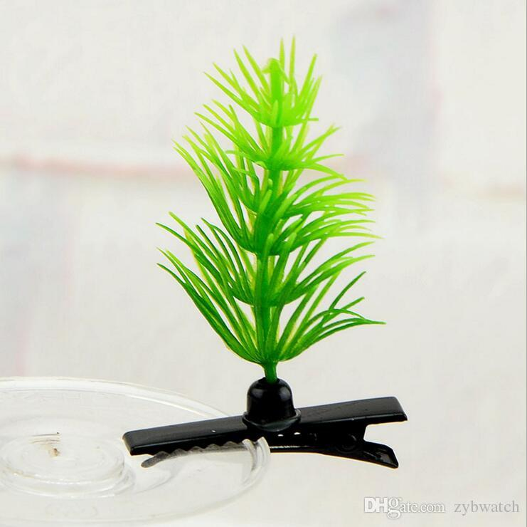 Sell adorable artifact grass hairpin hairpin heads sprouts long grass on the value simulation Dian material wholesale flower grass