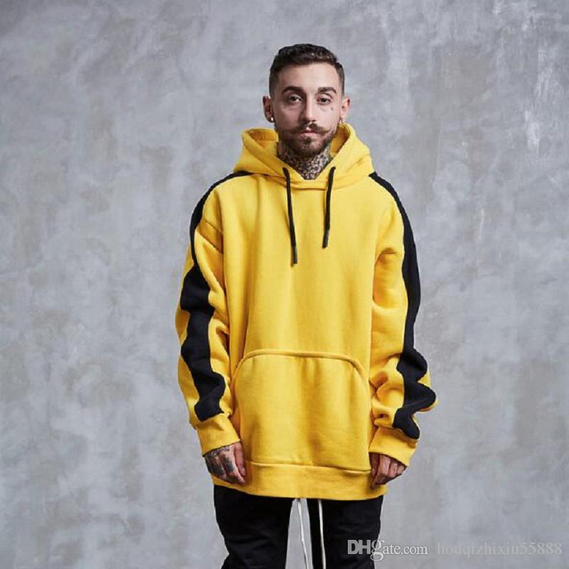 cheap for discount 89bdf ea31c New brand Hoodie Streetwear Hip Hop yellow green Black gray Hooded Hoody  Mens Hoodies and Sweatshirts Size M-XXL
