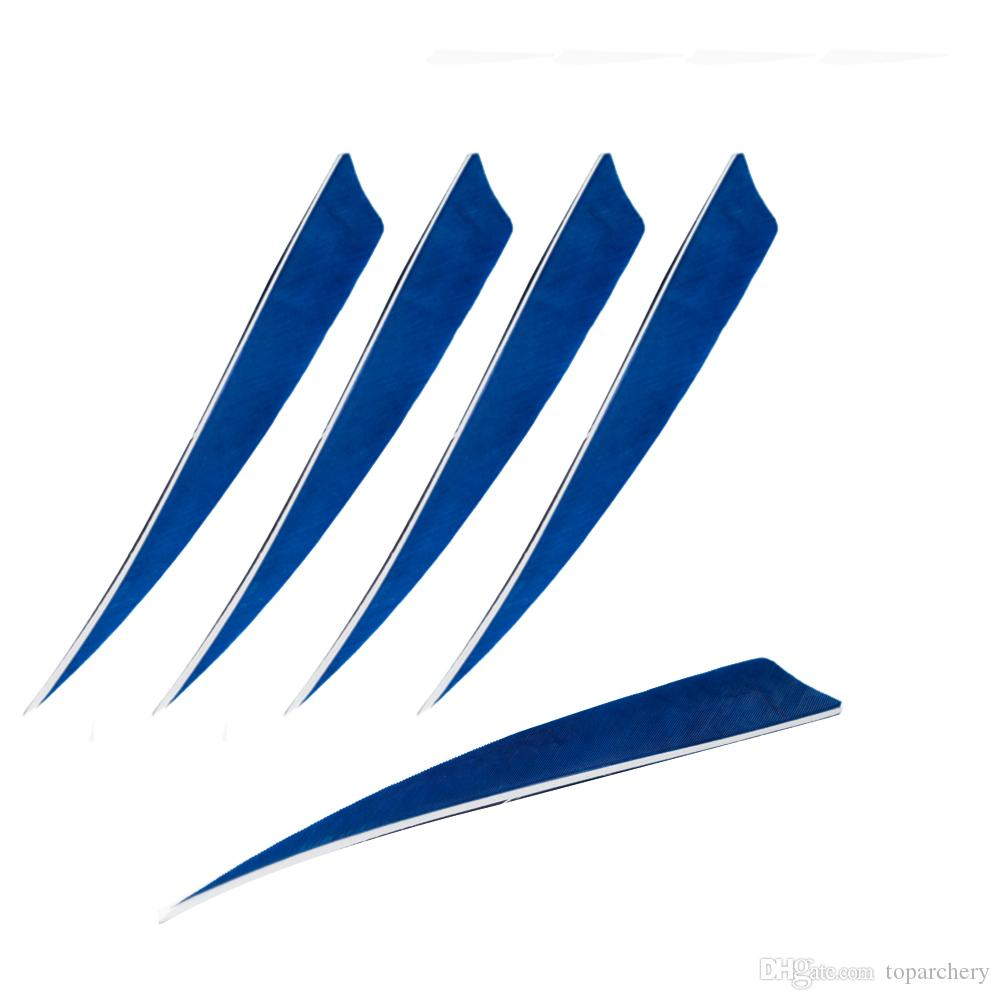 5'' Left Wing Feathers for Glass Fiber Bamboo Wood Archery Arrows Hunting and Shooting Shield Blue Fletching