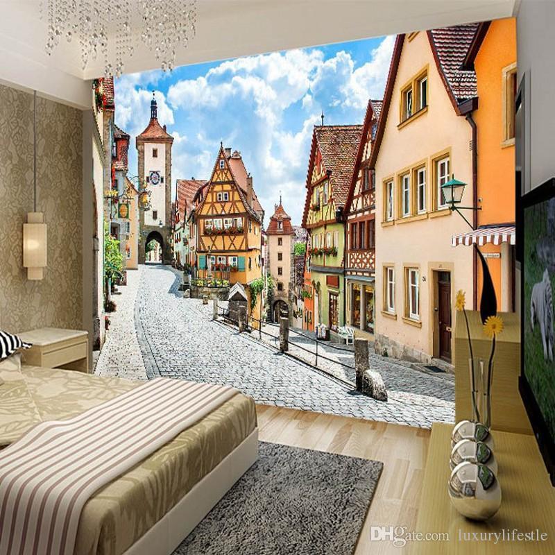 3d Stereo Custom Cafe Street Office Restaurant Bedroom Living Room