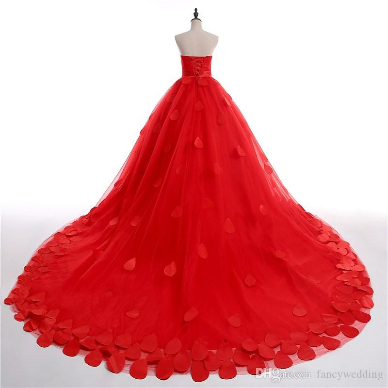 Strapless Sweetheart Ball Gown Sash Bow Tulle Sweep Train Can Be Made For Child Beautiful Wedding Gown Wedding Dresses