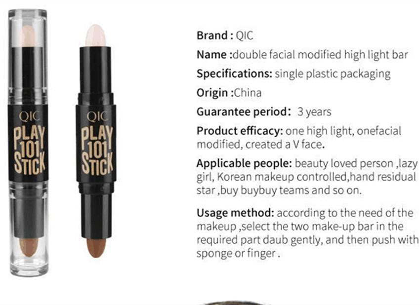 Brand Double-ended Color Concealer Stick Long Lasting Face Brighten Color Correcting Concealer Contour Makeup factory price