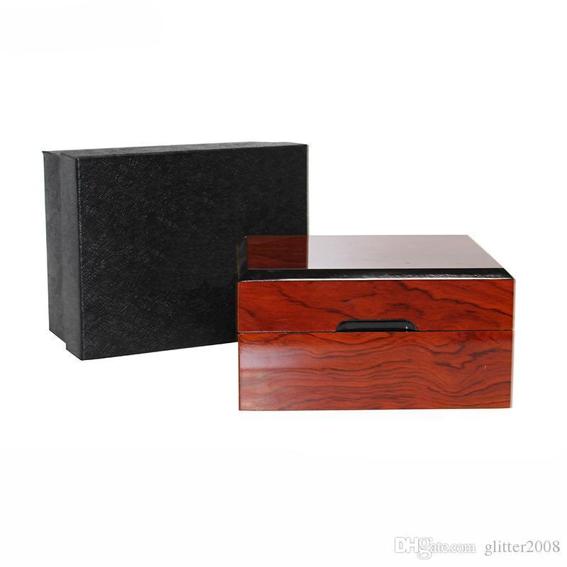 Marque solide bois boîte bijoux montre affichage organisateur cas de stockage conteneur décoratif en bois beauté cadeau boîtes glitter2008