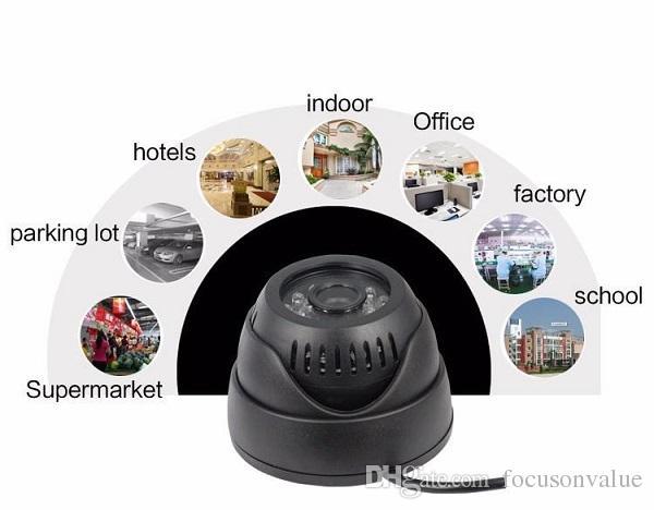 """USB Dome CCTV Camera 1/4"""" CMOS Color 420TVL 24 Leds IR Night Vision Indoor Home security CCTV camera Rotable black white"""