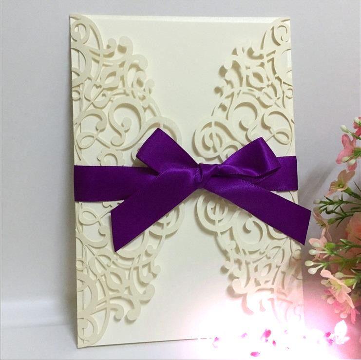 Acheter Invitations De Mariage Carte Visite Dinvitation Etoile Bleue Coupee Au Laser Style Europeen 101 Du Wedfavors
