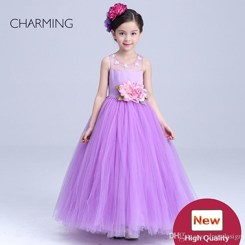 Purple Dresses Kids Dresses For Toddler Girl Ankle Length Dresses ...