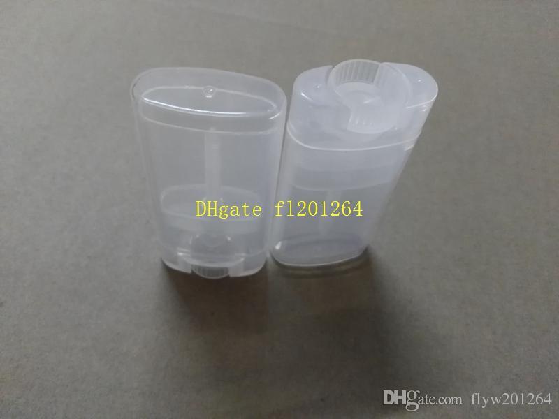100 teile / los Schnelles verschiffen 15g Durchsichtigen kunststoff Deodorant rohre DIY transparent lippenstift rohr 15 ml leere lippenbalsam flasche