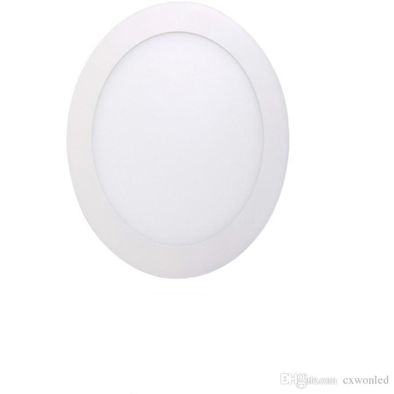 عالية مشرق أضواء لوحة LED جولة رقيقة مصباح داخلي النازل أضواء 9W 12W 15W 18W AC100-240V CE بنفايات ul الموافقة