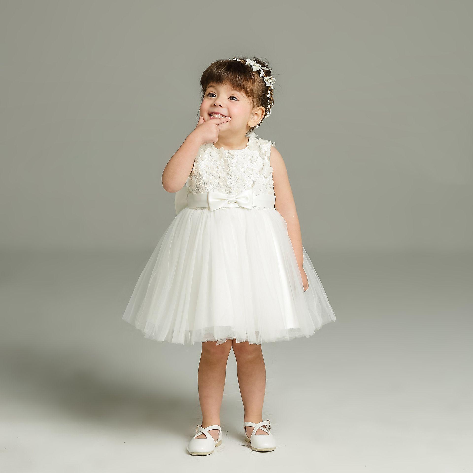 2018 Sale White Baby Flower Girl Dress For Wedding Boutique Girl ...