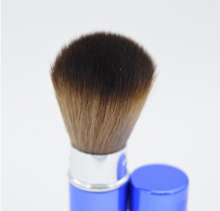 메이크업 도구 프로 개폐식 메이크업 블러쉬 브러쉬 파우더 코스메틱 페이스 파워 브러쉬 가부키 브러쉬 6 색