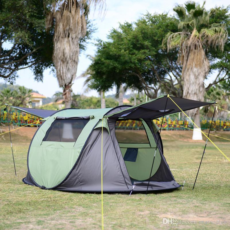 Tent 3 4 Person Large Space Travel Hiking Tents Waterproof Windproof Instant Automatic Tents Pop Up Tent Beach Tent C&ing Tents C&ing Tent Tents For ... & Tent 3 4 Person Large Space Travel Hiking Tents Waterproof ...
