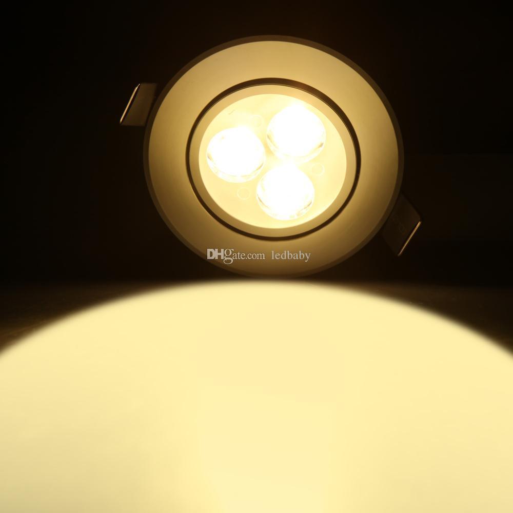 3W Embutida LED Downlight AC110V / 220 V Branco Shell Banheiro Cozinha Interior Iluminação Spot LED Luminárias Levou Luzes Para Casa