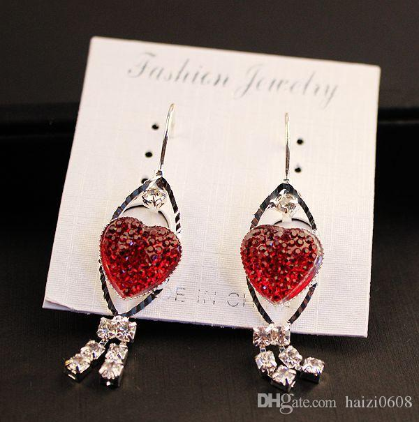Neue Frauen Mode Exquisite Kristall Ohrringe Klein Charme Ohrringe Ohrclip Bestes Geschenk für Frauen Mädchen Mix Stil Großhandel