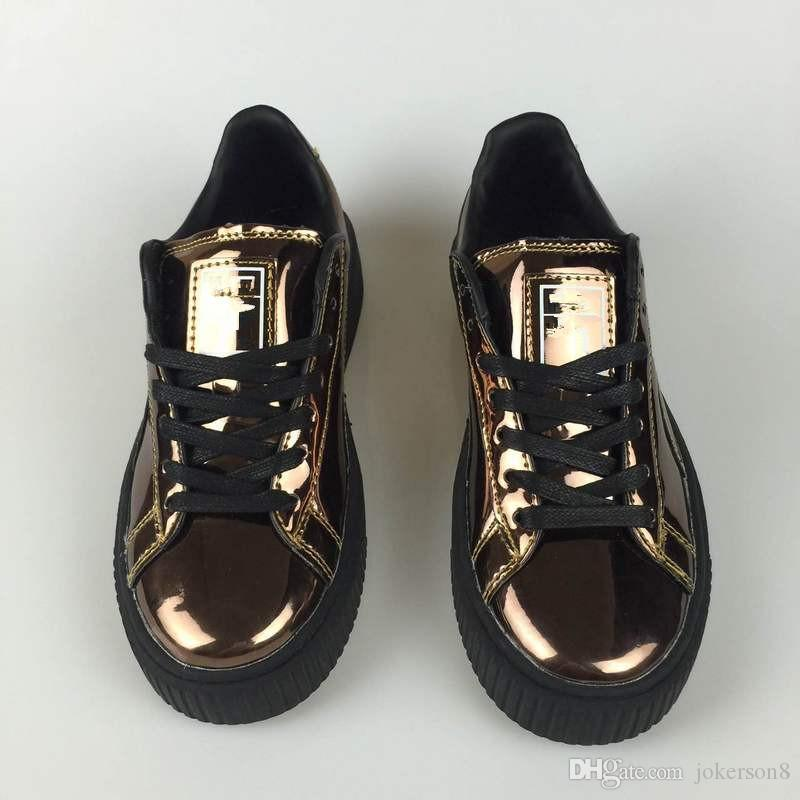 Rihanna X Suede Women And Mens Rihannas Shoes Sneakers Creeper Camo Black  Gold Silver Running Shoes Size 36-44 Creeper Skate Shoes Skateboarding Shoes  ... 132421b13