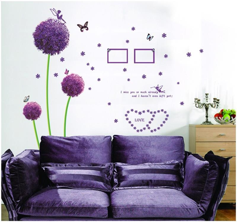 Wholesale Purple Dandelion Wall Stickers Romance Decoration Wall Poster  Home Decor Flower Wall Decals Home Decor Stickers Wall Home Decor Wall Art  Stickers ... Part 95