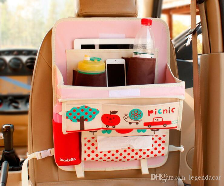 Car Seat Pocket Multi Pocket Travel Storage Bag Hanger Backseat Baby Car Bag  Car Storage Organizer Sundries Folding Table For Vehicle Front Seat Car ...