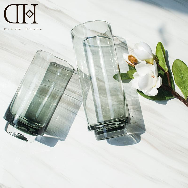 Luxury Modern Crystal Creative Glass Floor Vase For Home Decoration