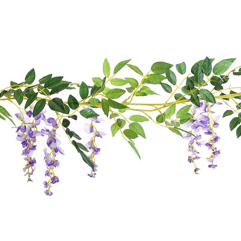 Artificielle Glycine Vigne Fleurs En Soie